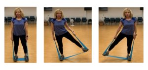 side leg lifts with band