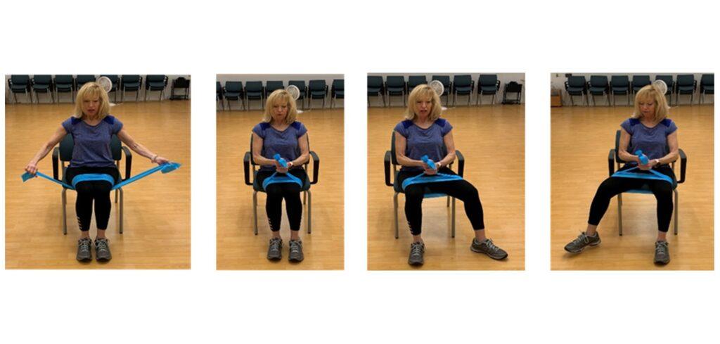 seated hip leg side move