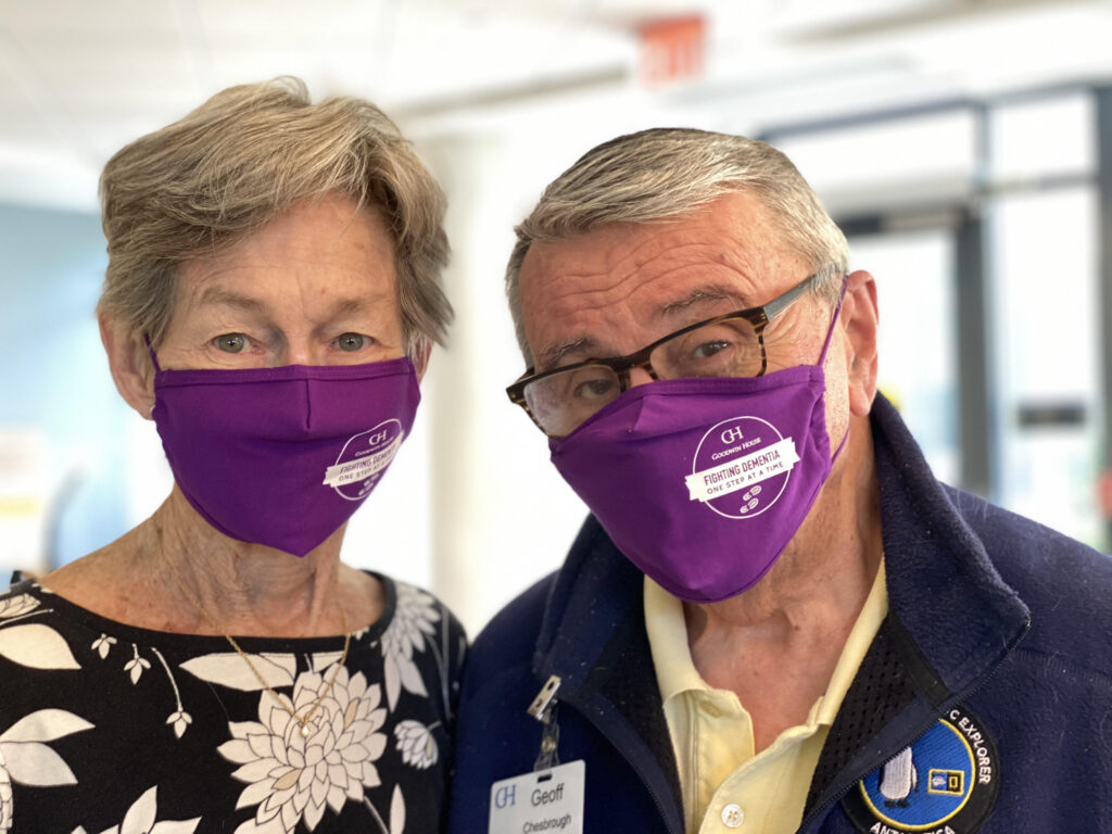 Goodwin House residents wearing masks